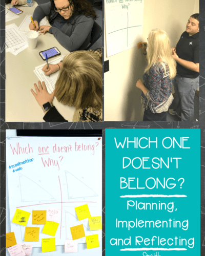 Which One Doesn't Belong: A Quick and Fun Math Activity