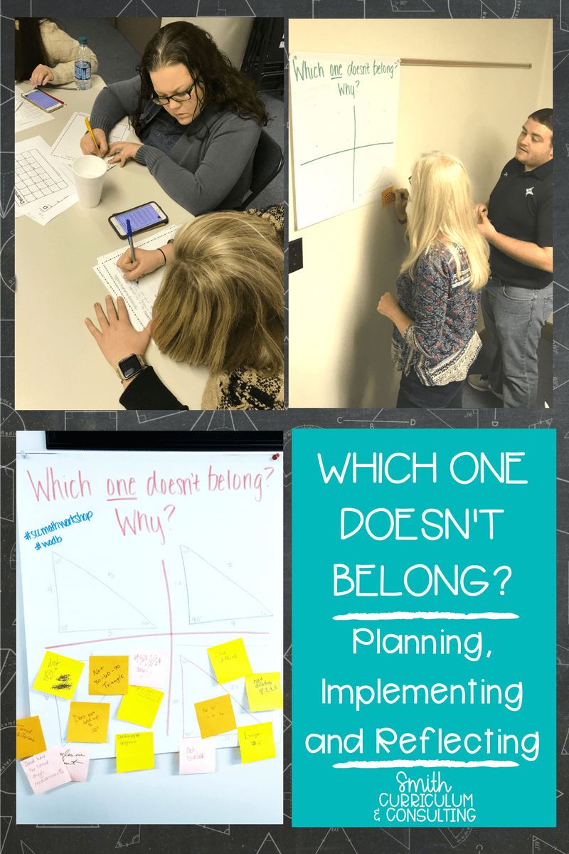 Which One Doesn't Belong is a quick and effective activity to use in your classroom. Doesn't have to be hard, doesn't have to take a lot of time and there are no wrong answers! Great way to get your students ENGAGED in math! #math #problemsolving