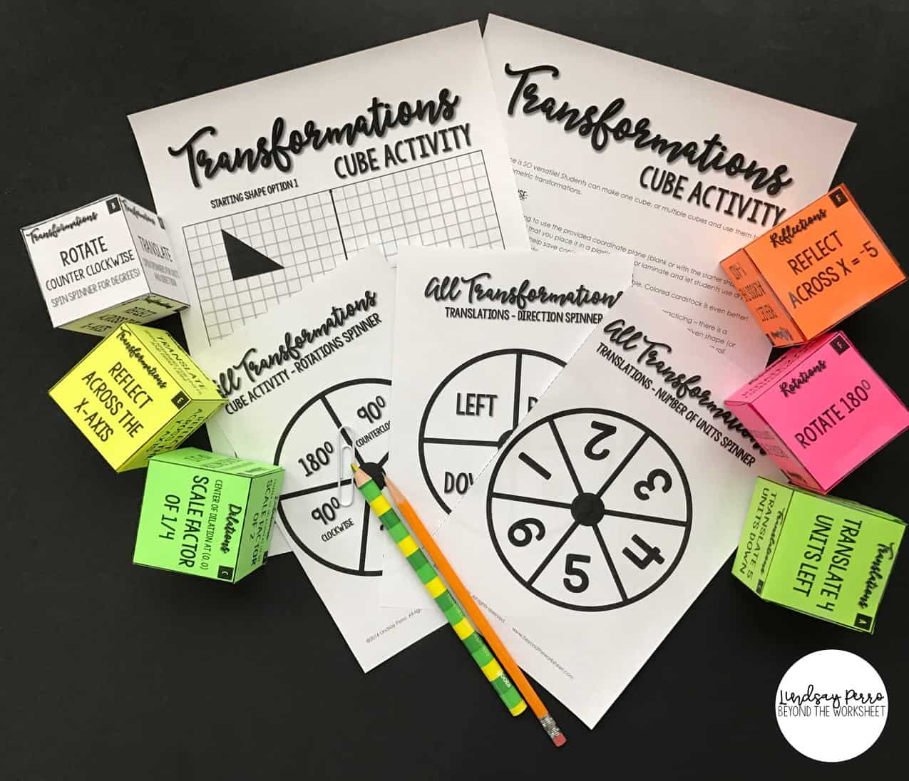 Transformations Cube Activity