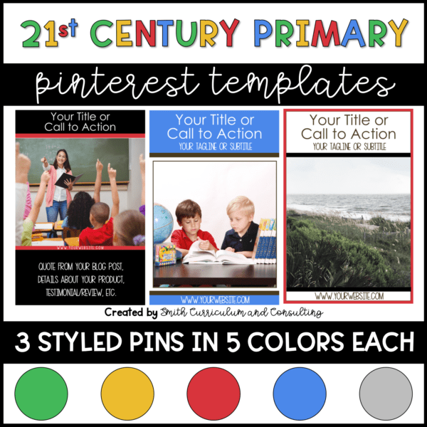 Primary Color Pinterest Templates