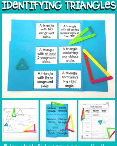 Classifying Triangles with Manipulatives in Fourth Grade | TEKS 4.6c | TEKS 4.6d