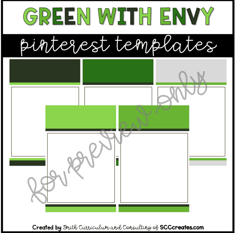 Green With Envy Style 1 Pinterest Template