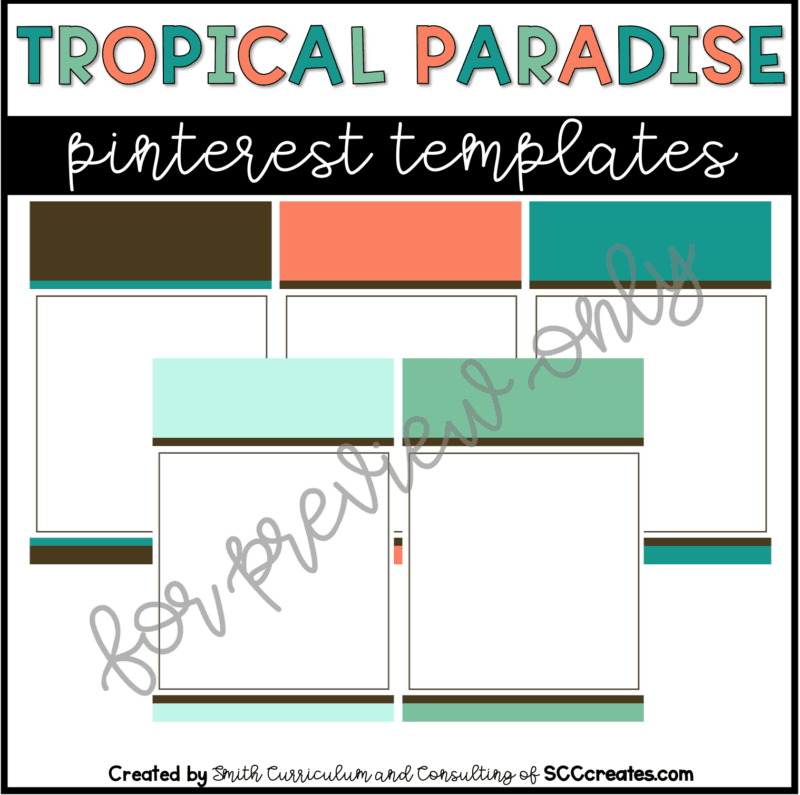 Tropical Paradise Style 1 Pin Templates