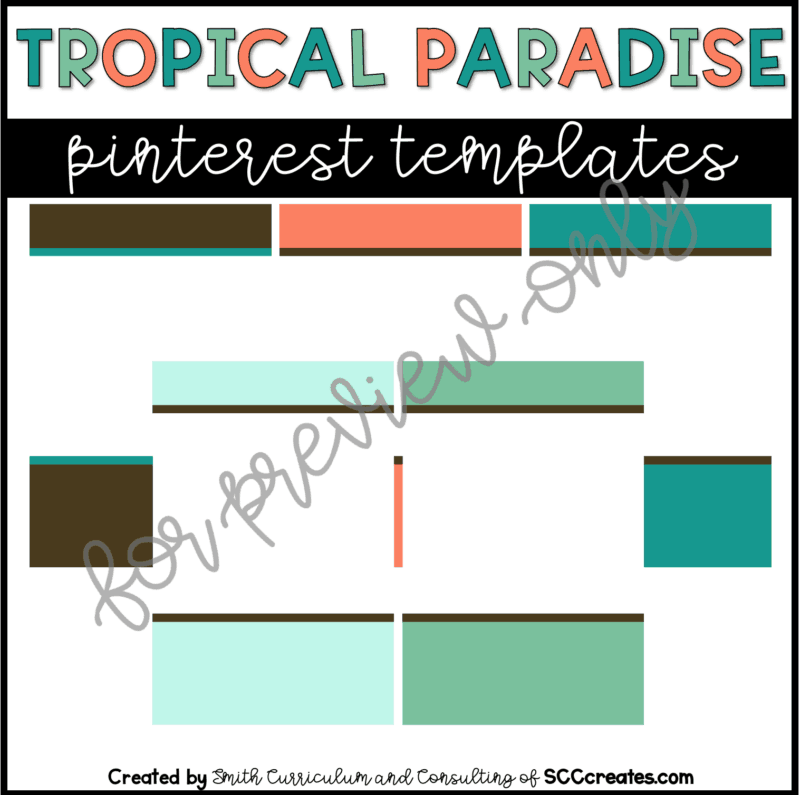 Tropical Paradise Style 2 Pin Templates
