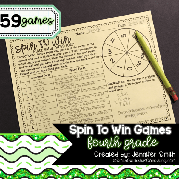 Fourth Grade Math Activity