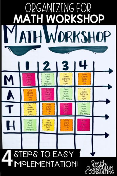Organizing for Math Workshop