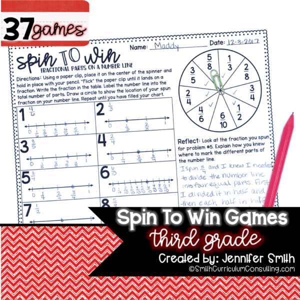 third grade math activity