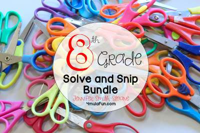 Eighth Grade Solve and Snip Bundle