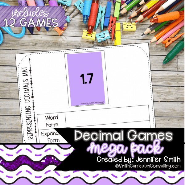 Decimal Games for Math