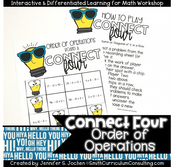 Connect Four Order of Operations Game