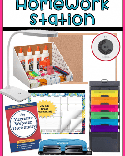 Creating a Homework Station at Home