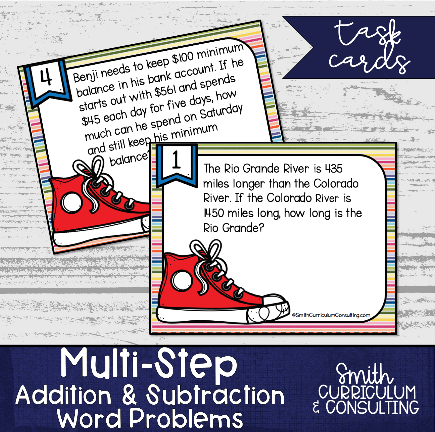 Multi Step Addition And Subtraction Word Problem Task
