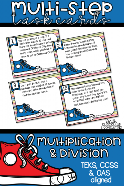 Multi Step Multiplication and Division Task Cards