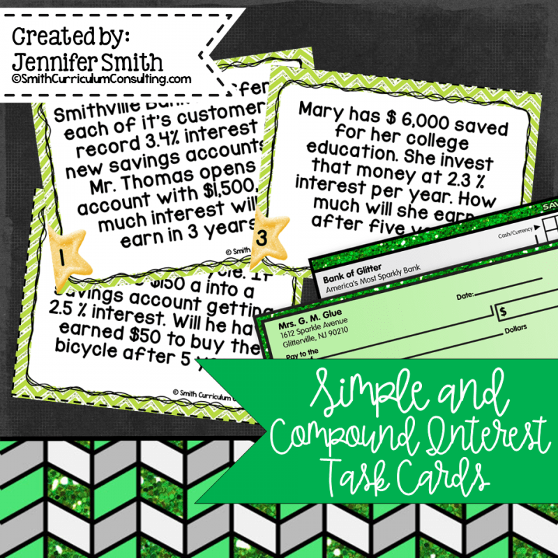 Simple and Compound Interest Cards