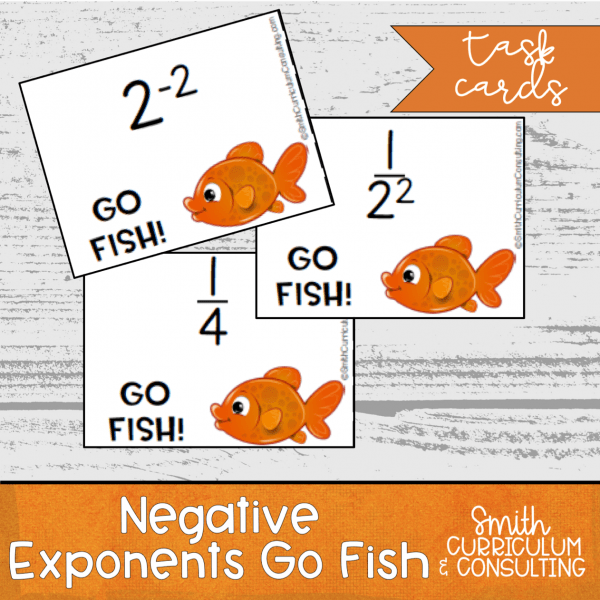 negative exponents go fish