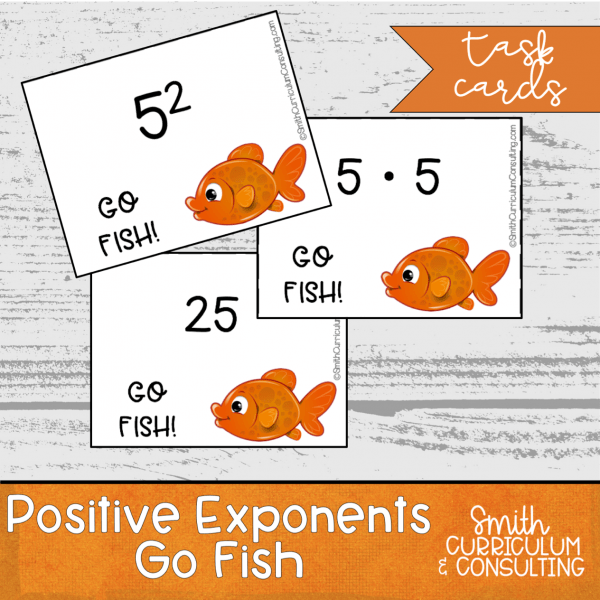 Positive Exponents Go Fish