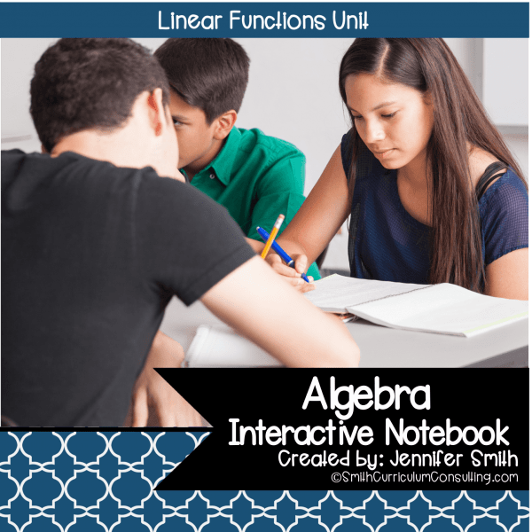Algebra Linear Functions Interactive Notebook Unit