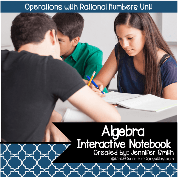 Algebra Operations with Rational Numbers Interactive Notebook Unit