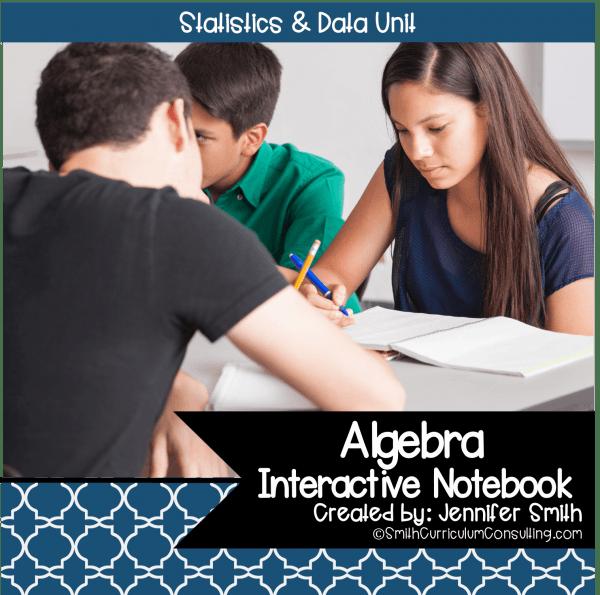 Algebra Statistics Interactive Notebook Unit