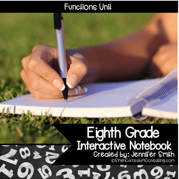 Eighth Grade Functions Interactive Notebook Unit
