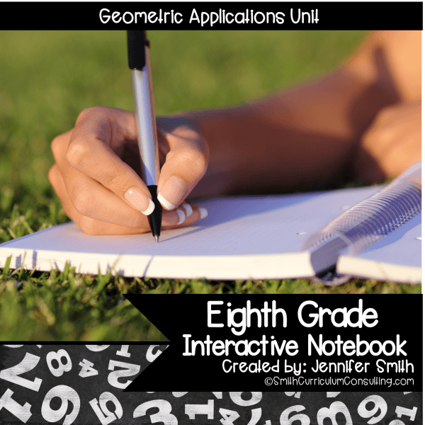 Eighth Grade Geometric Applications Interactive Notebook Unit