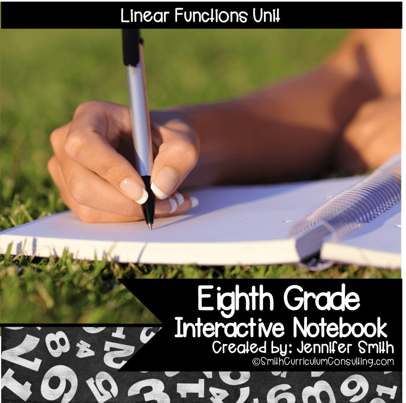 Eighth Grade Linear Functions Interactive Notebook Unit
