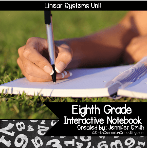 Eighth Grade Linear Systems Interactive Notebook Unit