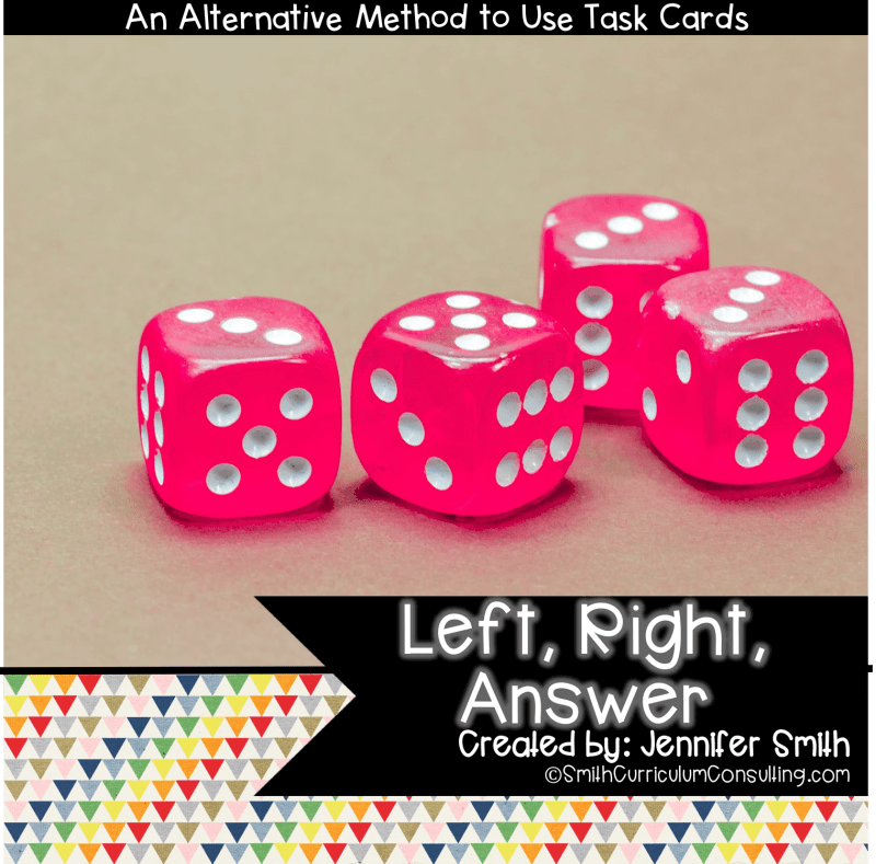 Left Right Answer Game for Task Cards