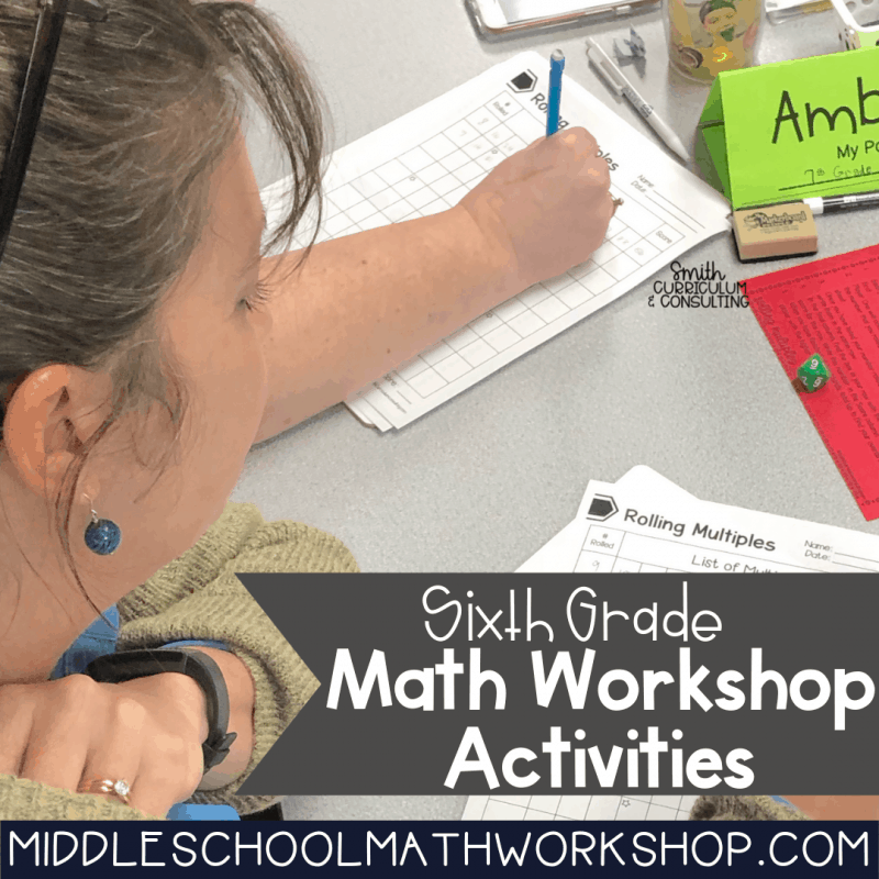 Sixth Grade Math Workshop Activities