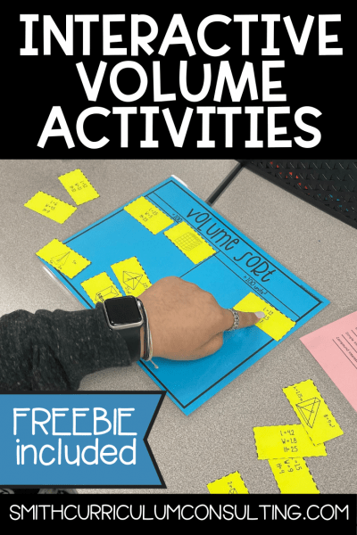 Reviewing volume in seventh grade takes quite a bit of hands on activities to develop the understanding and continue to practice. Through several interactive activities students build their knowledge and understanding of volume including a FREEBIE Volume Sort for you to use right away.