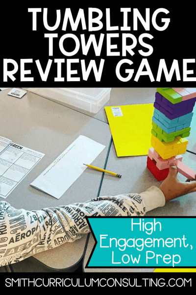 Using games, such as Tumbling Towers, in the classroom is a beneficial way to have students interact with one another with a slight competition aspect as well.
